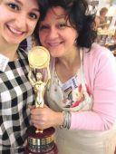 Erika Piccoli ed Emanuela Perenzin ricevono il premio Miglior selezione formaggi Italian Cheese Awards